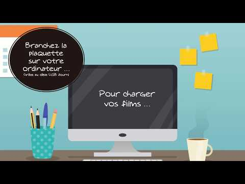 Mode d'emploi pour chargement de film sur plaquette vidéo Movi-Book