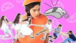 فوزي موزي وتوتي | المندلينا | مسابقة اولاد وبنات | Boys vs girls