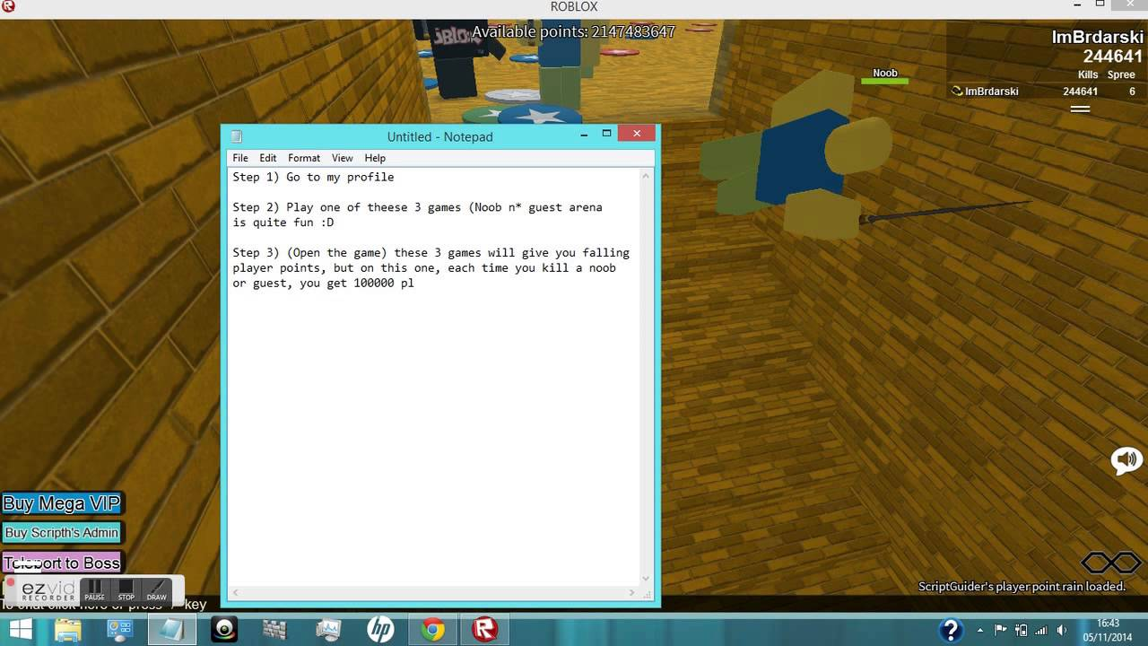How To Get Free Player Points On Roblox Youtube