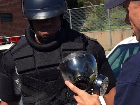 Baltimore Police Outfitted With New Riot Gear
