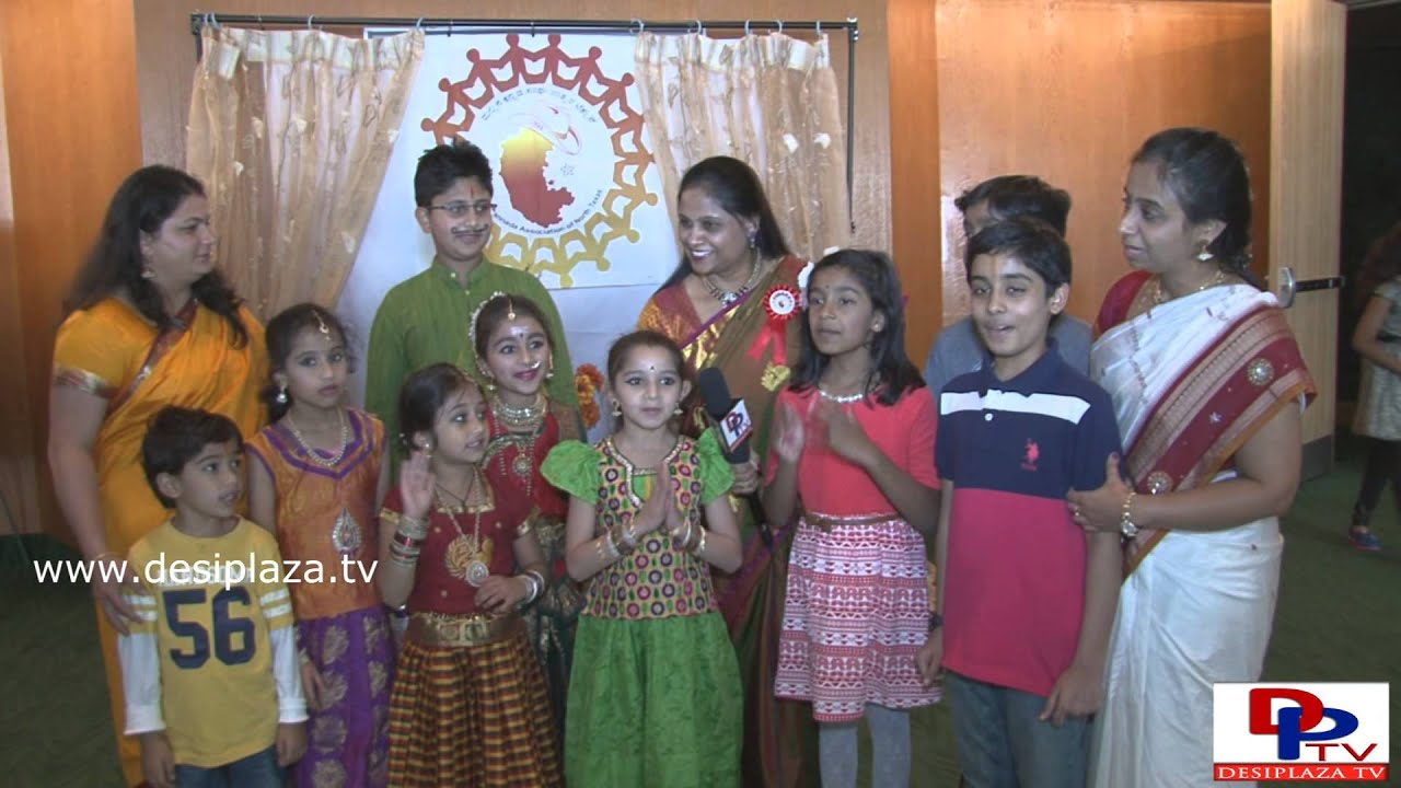 Kids -Nityotsava Team speaking to Desiplaza TV at Kannada Rajotsava and Diwali Celebration in Dallas
