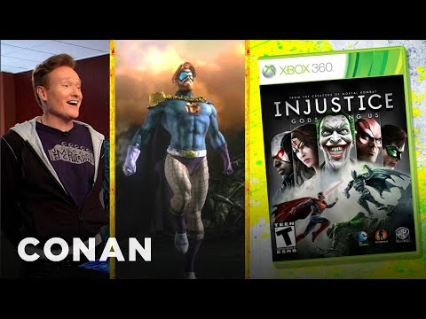 "Thumbnail: Conan O'Brien Reviews ""Injustice: Gods Among Us"" - Clueless Gamer - Conan on TBS"