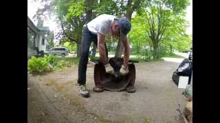 Wood Chipper From Old Lawnmower!!