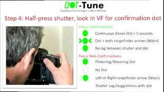 DotTune: Autofocus fine tuning in under 5 minutes
