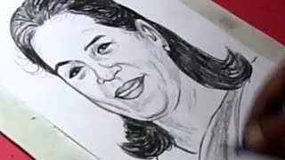 How to Draw SONIA GANDHI Drawing For Kids