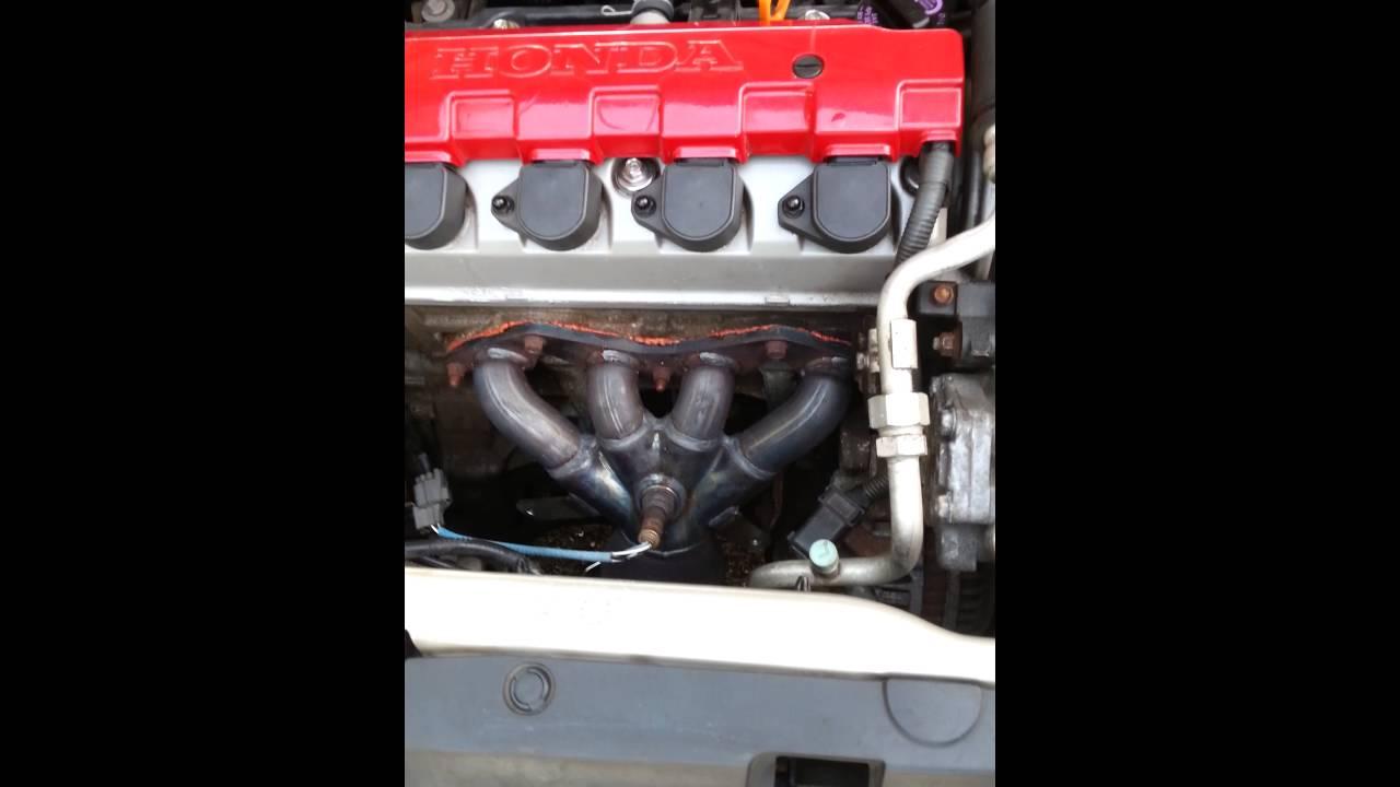 2005 Honda Accord Lx >> 2002 honda civic lx Exhaust manifold leak - YouTube