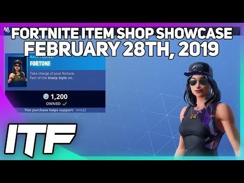 Fortnite Item Shop FORTUNE SKIN IS BACK! [February 28th, 2019] (Fortnite Battle Royale)