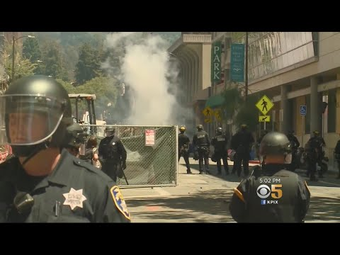 BERKELEY PROTEST: Protest turns violent on the streets of Berkeley