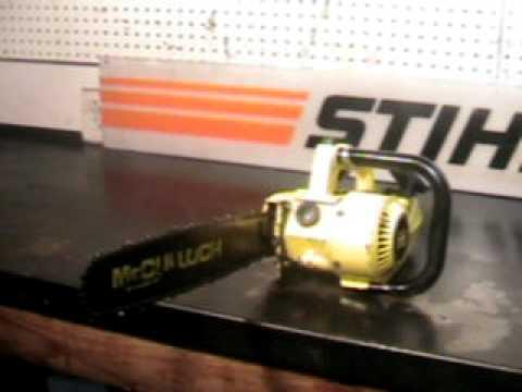 The chainsaw guy shop talk McCulloch Power Mac 6 Chainsaw 8 23