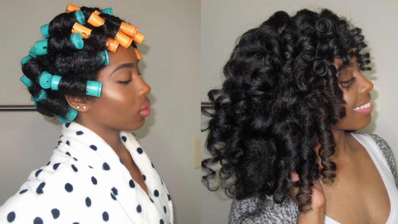 How To Perfect Perm Rod Set On Natural Hair Youtube