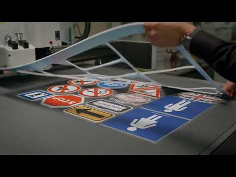 Producing signage and displays with Kongsberg X Starter