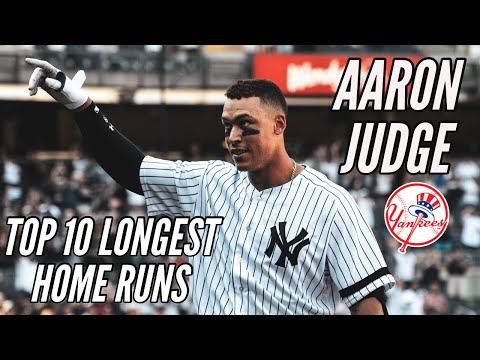Aaron Judge Top 10 Longest Home Runs | New York Yankees