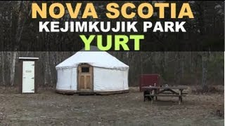 Yurt Backcountry Camping at Kejimkujik National Park