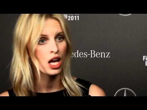 Facebook Live Interview Kurkova Mercedes-Benz Fashion Week Berlin A/W 2011