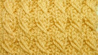 Узор Резинка с вытянутыми петлями. Видео урок вязание спицами. Pattern knitting gum extended loops