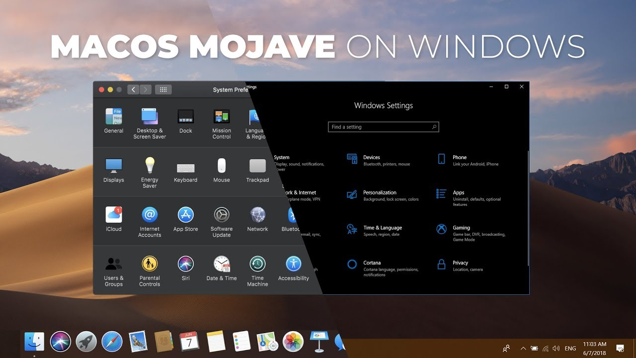 How to Get macOS Mojave Features on Windows 10