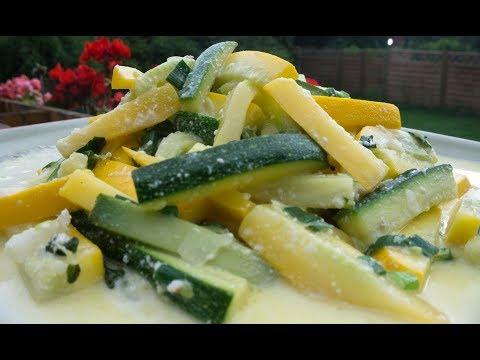 Zucchini-Gemüse mit Joghurt, leicht und lecker