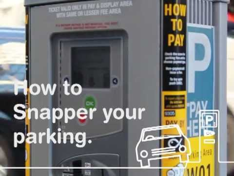 How to pay for your parking with a Snapper card.