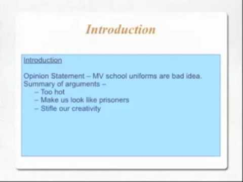 Introduction to Persuasive Writing