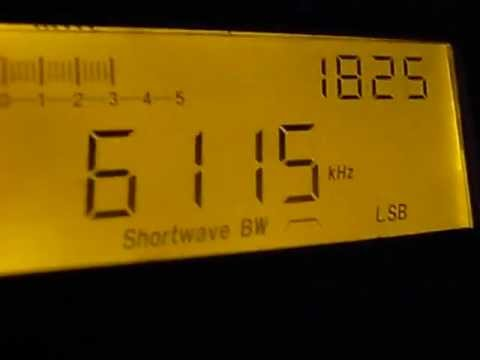 6115kHz Radio Congo (presumed - A French speaking African station)