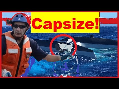 """""""MAYDAY"""" Capsized Catamaran Rescue Off Maui by the USCG"""