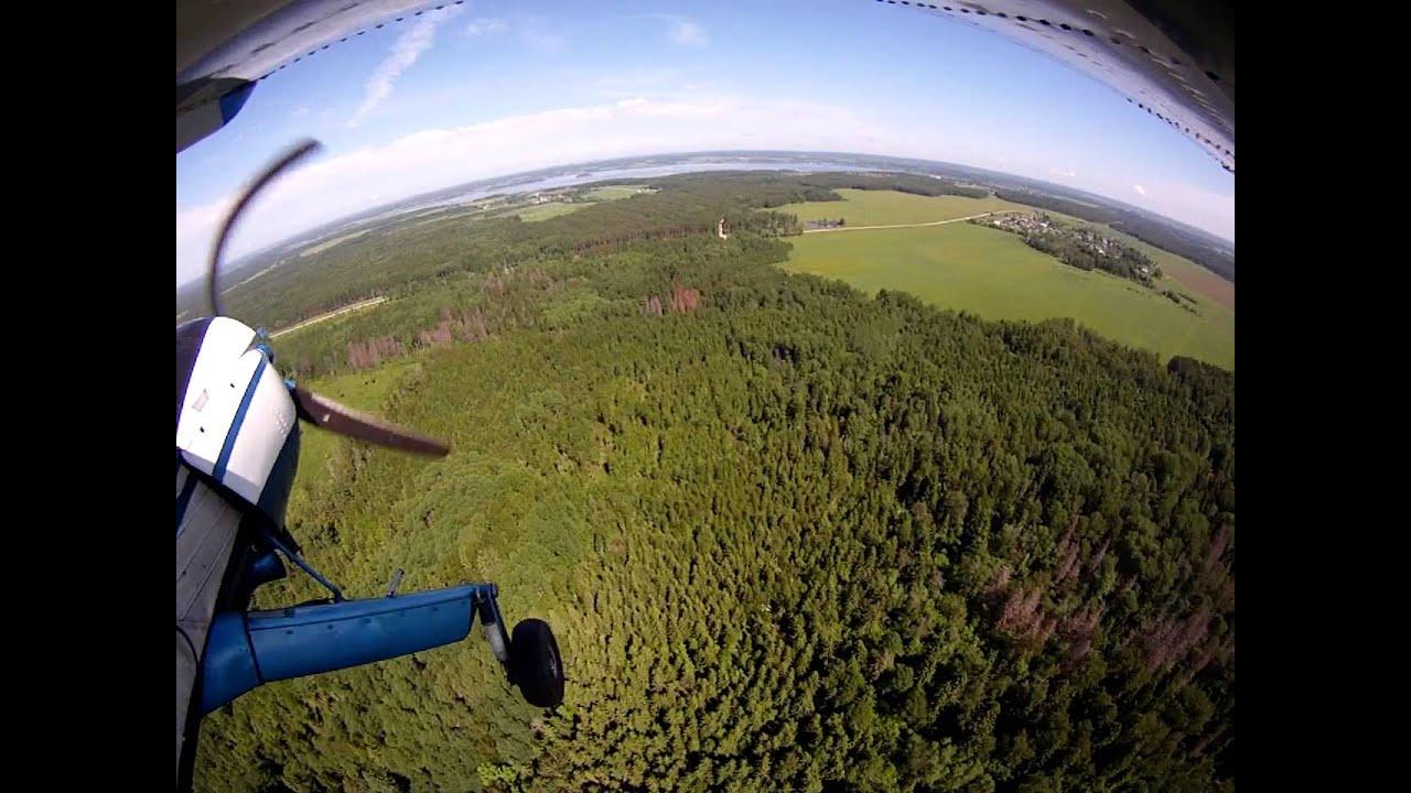 Уроки  управления легкомоторным самолётом в Московской области.