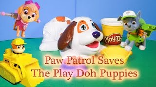 PAW PATROL Nickelodeon Paw Patrol Help Play Doh Puppie With Kibble Krank a Paw Patrol Play Doh Video