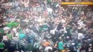 Invasão No Campo Em ALVALADE - Festa Da Taça De Portugal - 31/05/2015