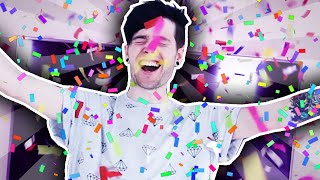 SHOOTING MYSELF WITH A CONFETTI CANNON!! | 12,000,000 Subscribers Special