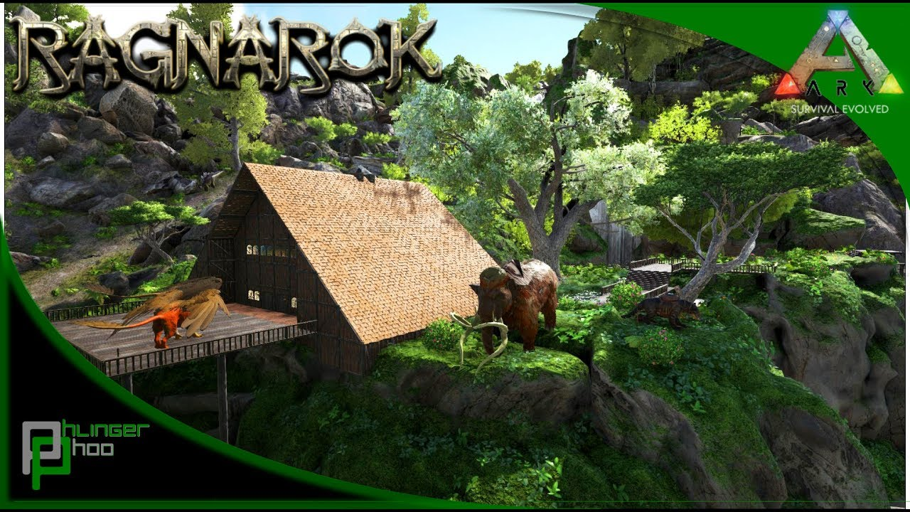 Ark Survival Evolved Interior Designing The Villager House Ragnarok 14 Youtube