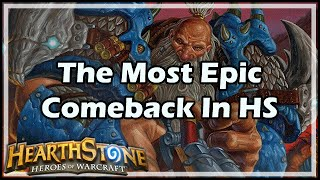 [Hearthstone] The Most Epic Comeback In HS