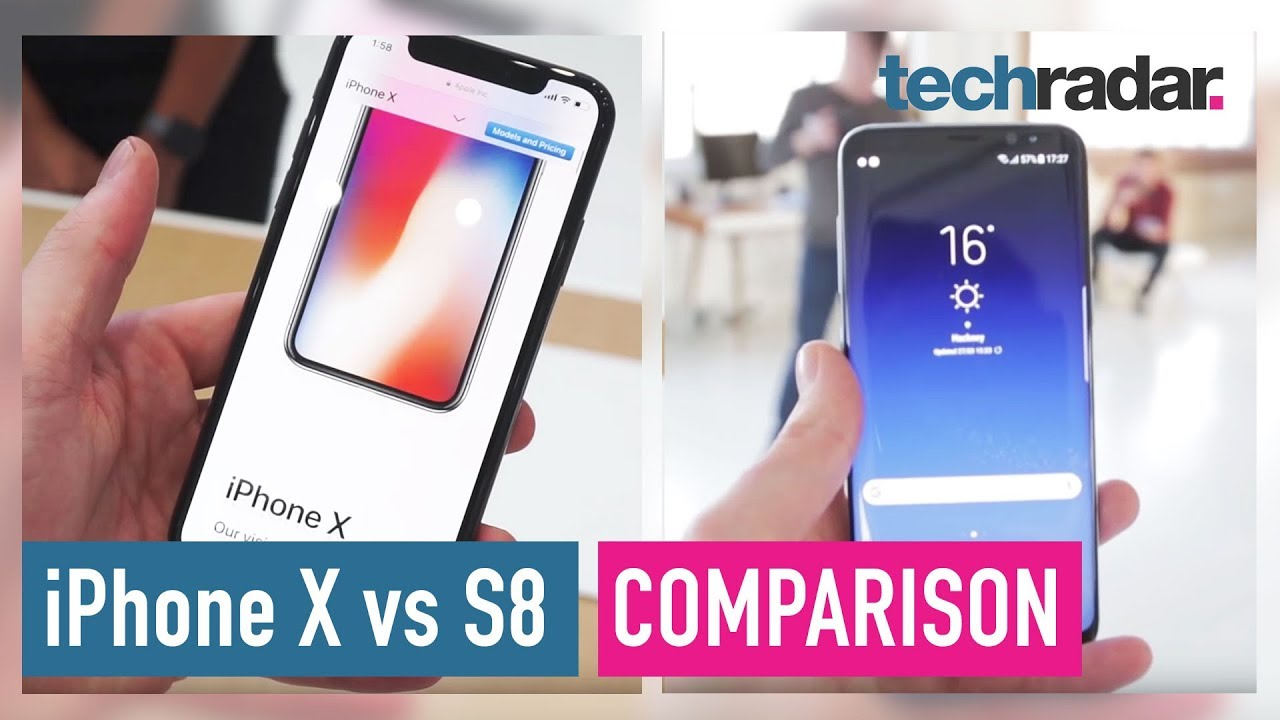 maxresdefault iphone x vs samsung galaxy s8 hands on comparison youtube