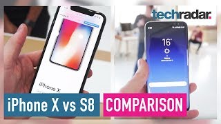 iPhone X Vs Samsung Galaxy S8 hands-on comparison