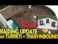 BASE RAIDING UPDATE with NEW DEFENSES, TURRETS, and TRAPS INBOUND! - Prey Day Survival Gameplay