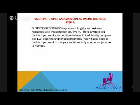 15 Steps to Open and Maintain and Online Boutique