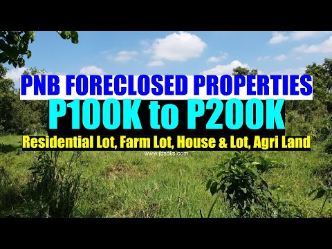 List of PNB Foreclosed Agri, Farm, Residential House and Lot for Sale P100K to P200K