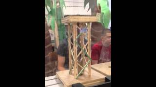Balsa Wood Tower Strength Test