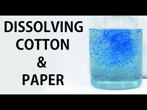 Dissolving Cotton And Paper In Water (using Schweitzer's Reagent)