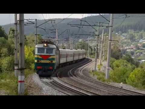 ЧС7-120 с поездом № 373 Тюмень - Махачкала