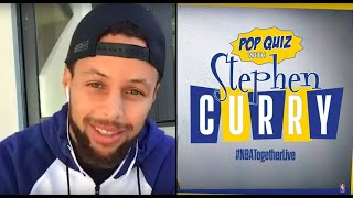 Stephen Curry Hosts NBA Trivia #NBATogetherLive