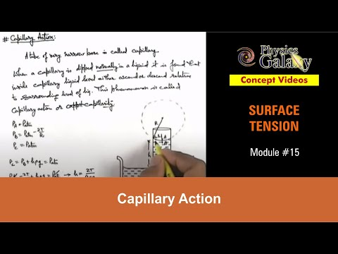 15. Class 11th Physics | Surface Tension | Capillary Action | by Ashish Arora