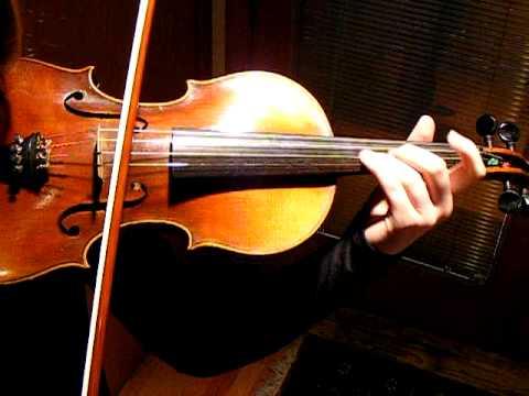 The Swan by Saint-Saens, Sound Sample, Antique 3/4 Child's Violin, German Stradivarius