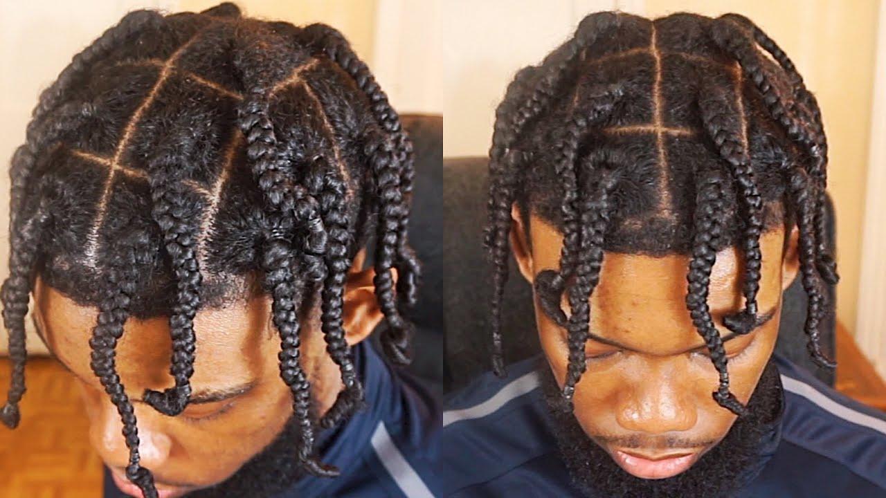 Men S Box Braids Tutorial For Short Medium Long Hair Youtube