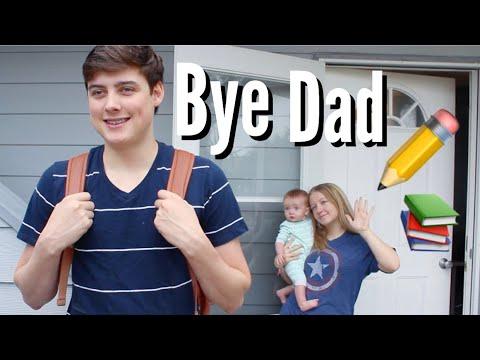 Teen Dad | First Day of Senior Year (Vlog)