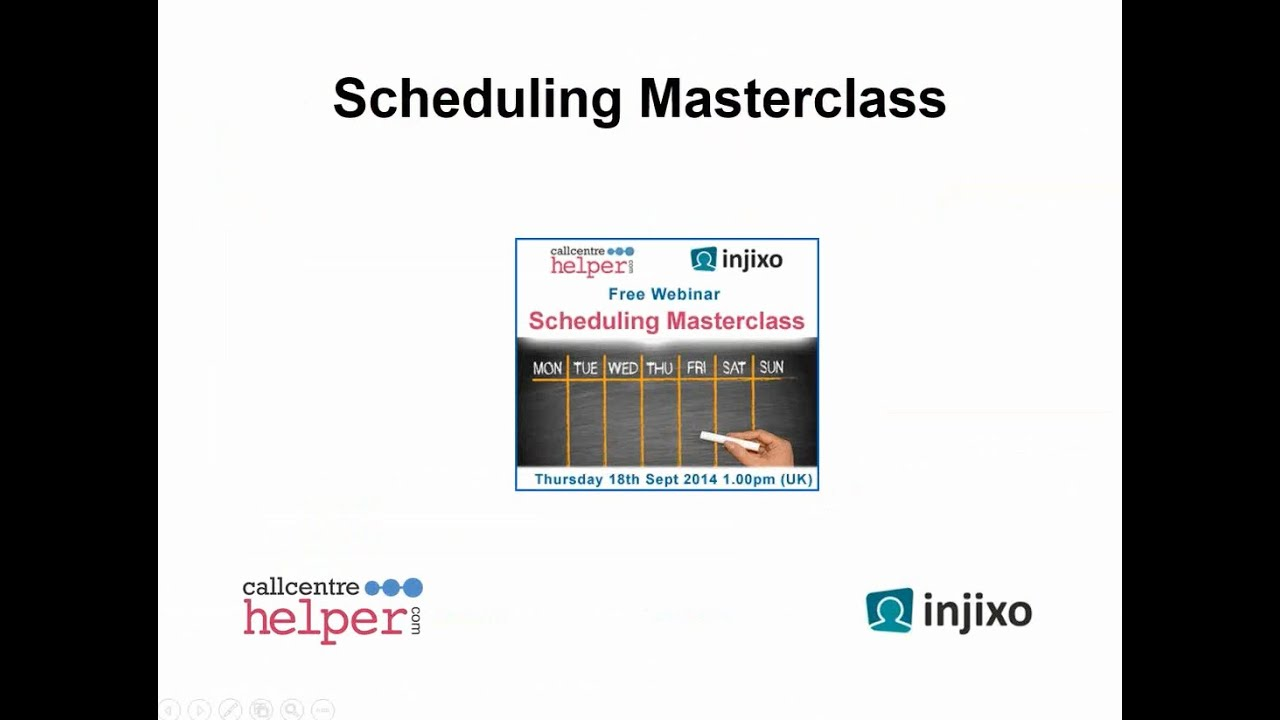 Webinar Replay: Scheduling Masterclass