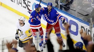 Rangers stun Penguins in overtime for comeback win