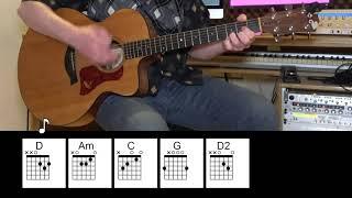 Let It Rain - Acoustic Guitar - Eric Clapton - Chords