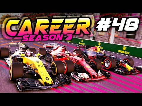 F1 2017 Career Mode Part 48: NEARLY SQUEEZED INTO A WALL!