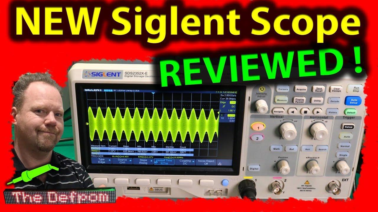 🔴 #520 Siglent SDS2352X-E 350MHz Oscilloscope Review - How To Use The  Siglent SDS2352X-E Scope ?