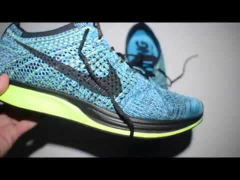Nike Flyknit Racer Blue Lagoon On Feet